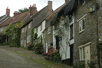 Gold Hill, Shaftesbury - Viewed from the bottom