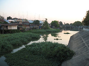 Lopburi River - Lopburi River in Lopburi downtown