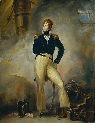 Nautical fiction - A portrait of Lord Cochrane in 1807 by Peter Edward Stroehling. Cochrane is frequently a historical model for the kinds of heroism depicted in fiction set during the Napoleonic wars and Age of Sail.