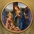 Lorenzo di credi, madonna e san giovannino adoranti il bambino, 1480 ca. 01.jpg