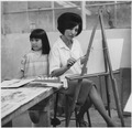 Loretta Graves and Her Daughter at a Painting Workshop Taught by Mrs. George Bolton. - NARA - 281621.tif