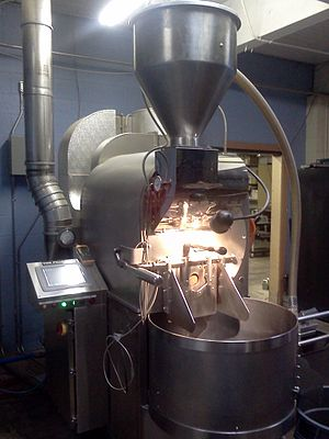 Coffee roasting - Commercial drum type coffee roaster