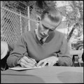 Los Angeles, California. Lockheed Employment. This man exhibits a maturity and experience that most applicants do not... - NARA - 532209.tif