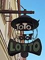 Lottery signboard, Kilian house in Eger, 2016 Hungary.jpg