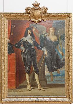 Louis XIII couronné par la Victoire by Philippe de Champaigne Louvre INV 1135 n01.jpg