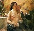Lovis Corinth - Selbstporträt mit seiner Frau und Sektglas (1902).jpg