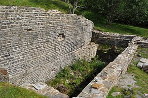 Westgate, County Durham - The preserved mine (wheel pit) north of Westgate on the Slitt vein
