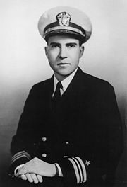 Lt Cmdr Richard Nixon 1945