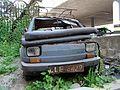 """Lublin - zdelezowany """"Maluch"""" Fiat 126p (03) - DSC00407 v1.jpg"""
