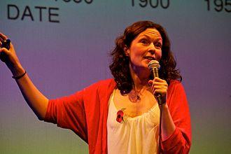 Lucie Green - Green talking at Bright Club in London, November 2011