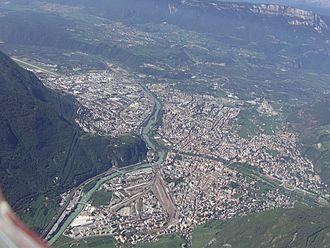 Bolzano - Aerial view of Bolzano