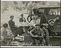Lunch along the road at Peach Tree Flat with Charles and Joyce Drake, Mendocino County, California, July 17, 1921.jpg