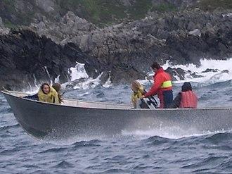 Lunga (Slate Islands) - Image: Lunga boat ride
