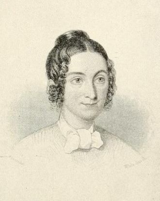 Lydia Sigourney - Engraving of Lydia Sigourney