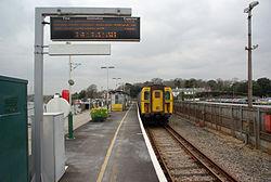 Lymington Pier railway station MMB 05 421497.jpg