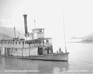 Lytton (sternwheeler) - Lytton at Arrowhead, BC on upper Arrow Lake