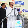 M. Venkaiah Naidu addressing at the inauguration of mega medical camp & distribution of training certificates at Swarna Bharat Trust, in Hyderabad.jpg