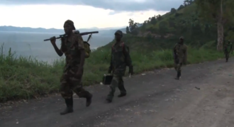Kivu conflict - M23 rebels withdraw from Goma after it captured the city in November 2012.