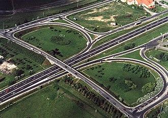 Highways in Hungary - M5 near Lajosmizse.