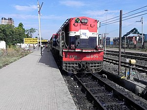 Mhow - MHOW YDM-4 diesel loco with 52957 RTM MHOW Passenger