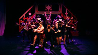 McMaster Musical Theatre - The cast of MMT's Pippin perform the opening number of the show on the Robinson Memorial Theatre stage, February 2017.