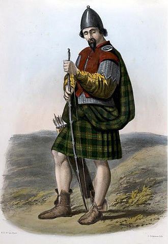 Clan MacLaren - A romanticised Victorian-era illustration of a MacLaurin clansman by R. R. McIan from The Clans of the Scottish Highlands published in 1845.