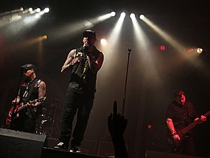 The Madden Brothers - The Madden Brothers performing as Good Charlotte in Berlin, August 2011.