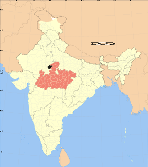Madhya Pradesh district location map Sheopur.svg