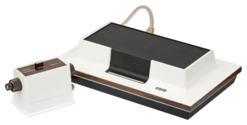 English: A Magnavox Odyssey, the world's first...