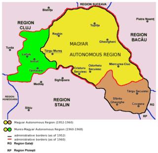 Magyar Autonomous Region administrative territorial entity of Romania