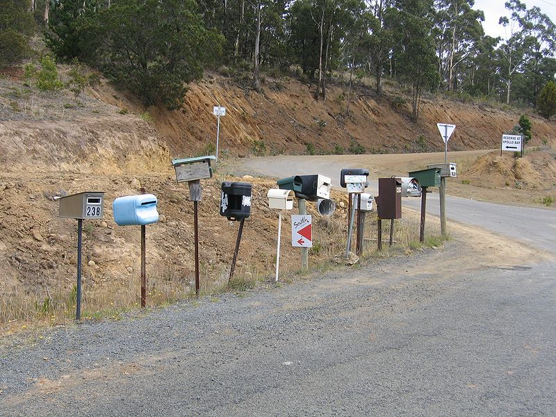 File:Mail Boxes Bruny Island.jpg
