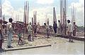 Main Auditorium Under Construction - Convention Centre Complex - Science City - Calcutta 1994 360.JPG