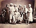 Majaraja of Benares and Suite, 1870s.jpg