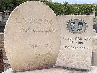 Juliet Man Ray - Funerary monument, Montparnasse Cemetery