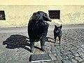 Mangulica and pulin monument in Sremska Mitrovica.jpg