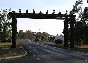 Manjimup, Western Australia - Entrance to Manjimup, late afternoon