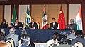 Manmohan Singh, the President of China, Mr. Hu Jintao, the President of Mexico, Mr. Felipe Calderon Hinojosa, the President of Brazil, Mr. Luis Inacio Lula Da Silva and the President of South Africa (3).jpg