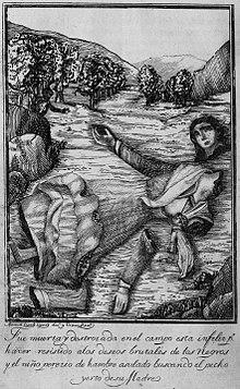 Manuel Lopez Lopez - Fue muerta y destroiada nel campo esta infelir p. haver resistido alos deseos brutales de los negros y el niño pererio de hambre asulado buscando el becho yerto desu madre.jpg