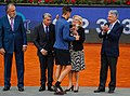 Manuela Carmena asiste a la final Mutua Madrid Open 2018 en la Caja Mágica 01.jpg