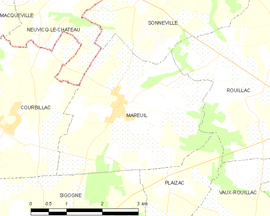 Mapa obce Mareuil