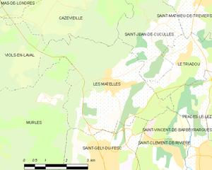 Les Matelles - Map