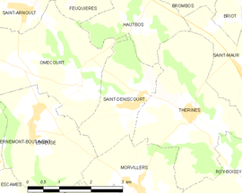 Mapa obce Saint-Deniscourt