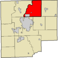 Map highlighting Flat Rock Township, Bartholomew County, Indiana.png