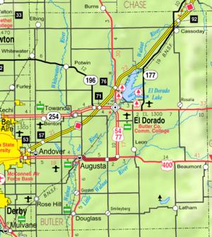 Butler County Kansas Road Map