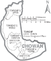 Map of Chowan County North Carolina With Municipal and Township Labels.PNG