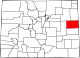 Map of Colorado highlighting Kit Carson County.svg