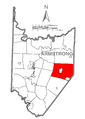 Map of Cowanshannock Township, Armstrong County, Pennsylvania Highlighted.png