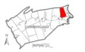 Map of Cumberland County Pennsylvania Highlighting Hampden Township.PNG