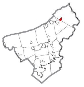 Map of East Bangor, Northampton County, Pennsylvania Highlighted.png