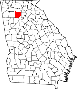 map of Georgia highlighting Cherokee County
